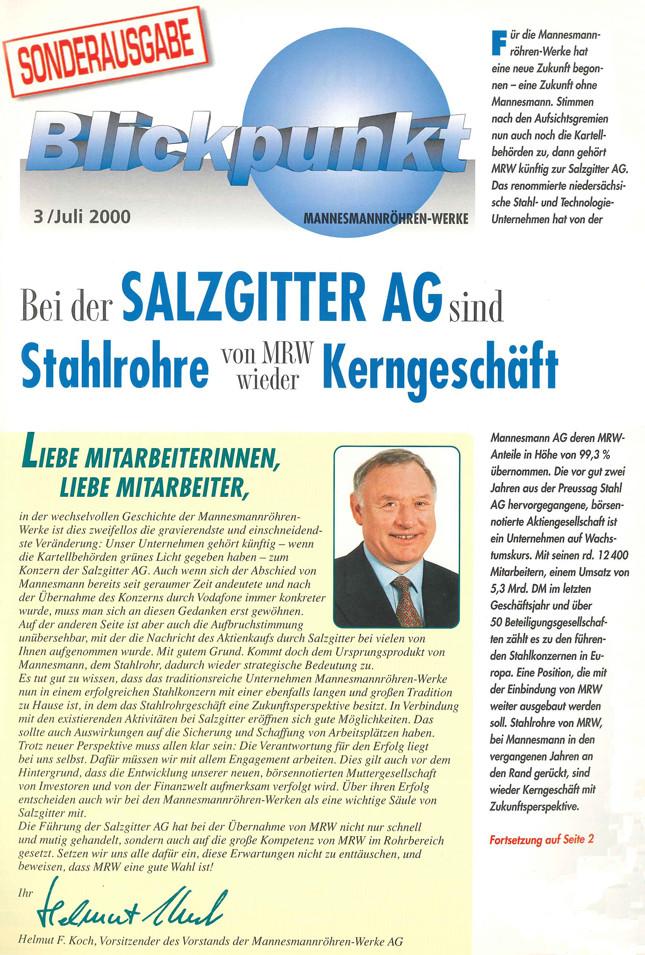 MRW-Mitarbeiterzeitung, Juli 2000