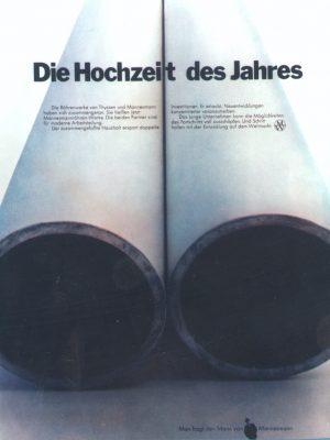 Werbung zur Arbeitsteilung mit Thyssen, 1970